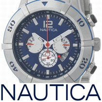 Relógio Nautica N25009g Nst Masculino Steel Aco P. Entrega