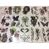 Kit Com 15 Cartelas De Tatuagem Temporária Sortidas