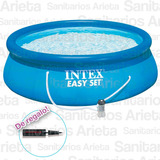 Pileta Easy Set Combo Intex 305 X 76 Cm + Bomba + Inflador