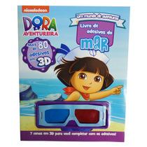 Livro Infantil Dora A Aventureira Adesivos Cenas Óculos 3d