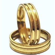 Aliança Anel Bulgario Banhado Ouro 18k Compromisso