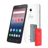 Smartphone Celular Alcatel Pop Star 13mpx Blanco + 2 Covers