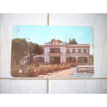 Antigua Postal Vista Al Palacio Comitan Chiapas Coleccion