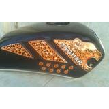 Tanque De Gasolinas Para Moto Jaguar 150cg Tigre Negro
