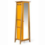 Armário Multiuso 1 Porta Stoka Maxima Nogal/amarelo Eb