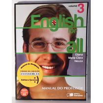 Livro Inglês English For All Volume 3 Do Professor Com Cd