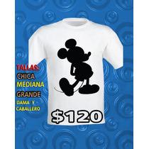 Playeras Anime De Los 80 Y 90,mickey Mouse,pluto,pato Donald