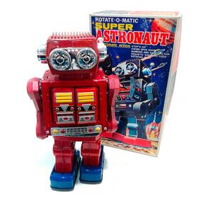 Robot Astronauta Pila Japon Antiguo Nuevo 1960 Lloretoys