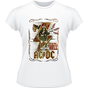Baby Look Acdc Rock Highway To Hell Tnt Thunderstruck Camisa