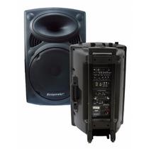 Caixa De Som Ecopower Ep-1291 350w Rms Microfones Falante 12