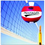 Kit Rede Vôlei 4 Lonas E 01 Bola Voleibol Promoção