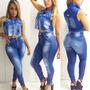 Calça Jeans Feminina Com Elastano Skinny Barata Rasgada