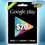Google Play Gift Card $20 Android Smartphone Tarjeta Recarga