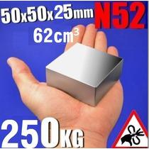1 Iman Neodimio De 50mm X 50mm X 25mm Super Grande Y Potente
