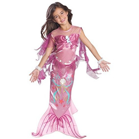 Disfraz Sirena Mágica Para Niña Talla S - Rosado