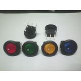 Interruptor Circular Con Luz 220v 5a - Llave Un Punto