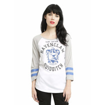 Harry Potter Ravenclaw Playera Manga 3/4 Dama Hot Topic