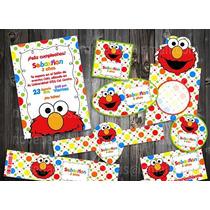 Kit Imprimible Elmo Colores Fiesta Niño Candy Piñata Bolo