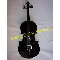 Violino Preto 4/4 Completo Jahnke