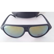 Gafas Anteojos De Sol Negros Carrera Espejados Unisex