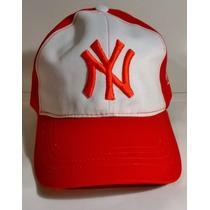 Gorra Visera Plana Snapback Regalos Ny Yankees R/b