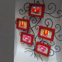 Portaretrato Herreria Madera 5 Fotos 80x65 Arbol Red