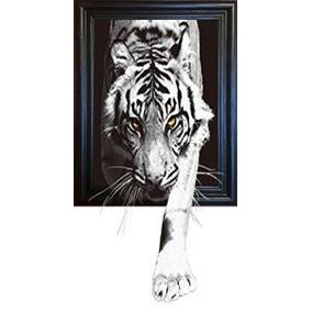 3d Art-negro Y Blanco Gatos Enmarcada Imagen - Amazing Life