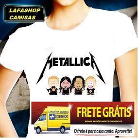 Camiseta Metallica South Park Camisa Baby Look Feminina Moca