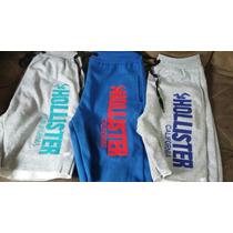 Kit Com 3 Shorts Moletom Nike E Hollister O Melhor Preço