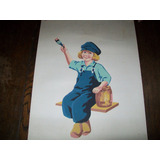 Hermoso Poster, Grabado, Lamina Dutch Boy Antigua 60