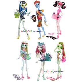 Monster High Holt,rochele,frankie,draculaura,lagoona E Venus