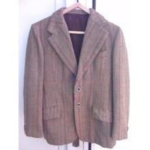 Saco Vestir Tweed Espigado Excelente Corte Pequeño