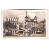 Rj118 Postal Antigo 1924 Grande Hotel, Largo Da Lapa.