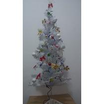 Árvore De Natal Branco 1,20m Completissima - Promoção!!!
