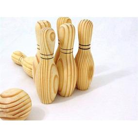 Brinquedo Madeira Boliche De Madeira Pronta Entrega Novo