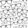 Adesivo De Parede Ótica Óculos Branco E Preto Lavável 3 Met