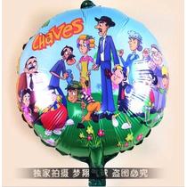 10 Balão Metalizado Turma Do Chaves Kiko Chiquinha Madruga