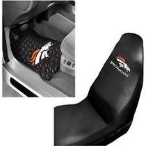 Tapete Y Protector Para Asiento De Carro Nfl Denver Broncos