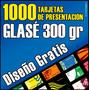 1000 Tarjetas De Presentación En Glase 300 Gr