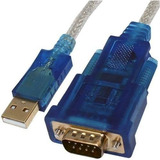 Cabo Adaptador Usb 2.0 Serial Rs232 Conversor Db9 9 Pinos