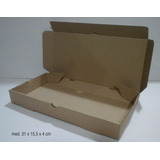 100 Cajas Sandwiches, Media Pizza, Microcorrugado 31x15x4