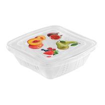 Jgo 3 Contenedores Cuadrados Frutas Verduras 0.5 Lts. Prinz