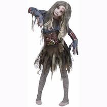 Disfraz De Zombie Niñas Disfraces Hallowen Terror Fiestas