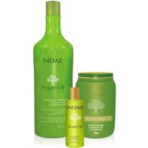Kit Argan Oil Inoar - Shampoo 1000ml + Másc 1kg + Óleo 60ml