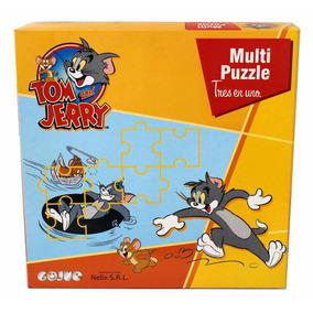 Tom Y Jerry Multipuzzle (3 Rompecabezas Para Niños)
