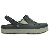 Zapato Crocs Unisex Adulto City Sneaks Slim Gris