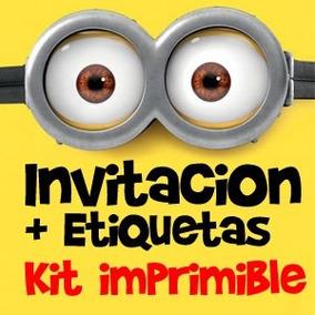 Invitaciones Mi Villano Favorito Minions