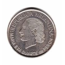 Moneda Argentina 2 Pesos 2002 Evita Conmemorativa