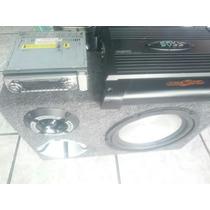 Kit Caixa De Som Trio + Módulo Boss 1000w + Rádio Usb Hb