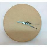 Reloj En Mdf 3mm.+máquina Diámetro 25 Cm. Varia Tecnicas